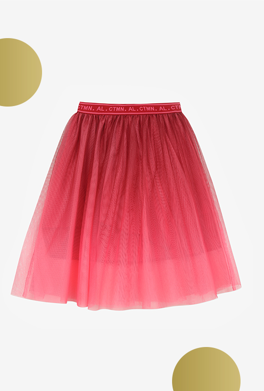 Jupe longue tulle tie-and-dye